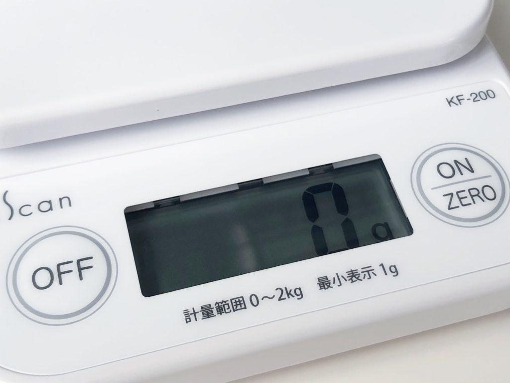 タニタ キッチンスケール KF-200 WH