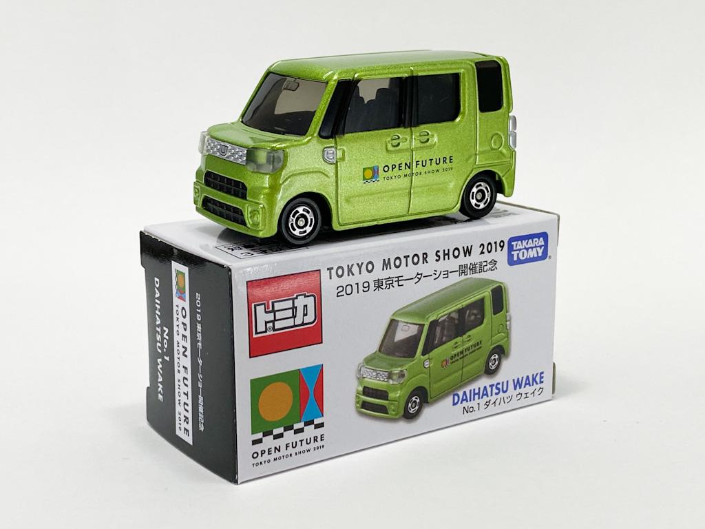 東京モーターショー2019 開催記念トミカ 12台セット No.1 ダイハツ ウェイク パッケージと本体