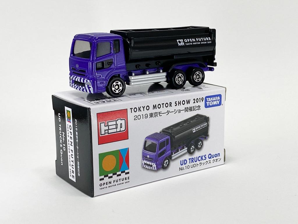 東京モーターショー2019 開催記念トミカ 12台セット No.10 UD トラックス クオン パッケージと本体
